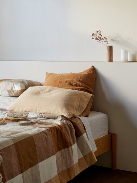 Sove Linen Pillowcase Pair Latte
