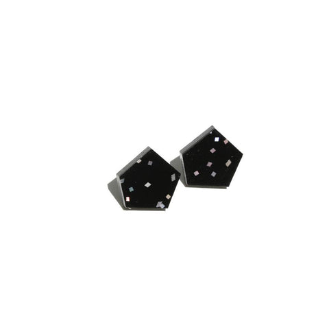 Gem Stud Earrings Midnight Sky