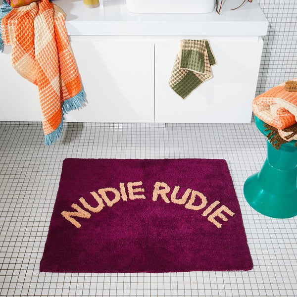 Tula Nudie Rudie Bath Mat Boysenberry
