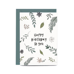 Botanic Birthday Gift Card