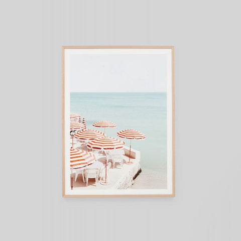 Riviera View Framed Print