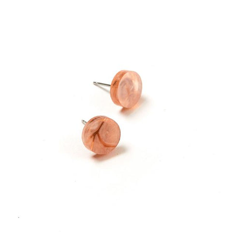 Mini Circle Stud Earrings Orange