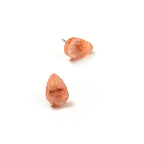 Raindrop Stud Earrings Orange