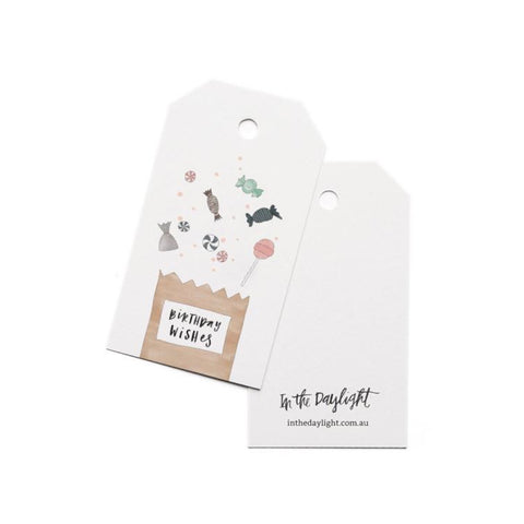 Birthday Lolly Bag Gift Tag