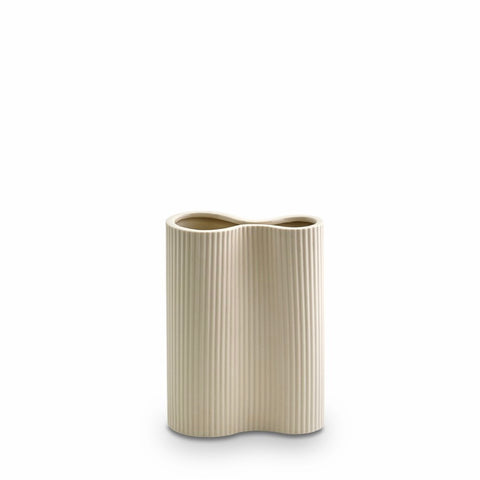 Ribbed Infinity Vase (S) Cream