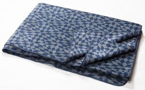 Navy Small Rhombuses Bamboo Throw