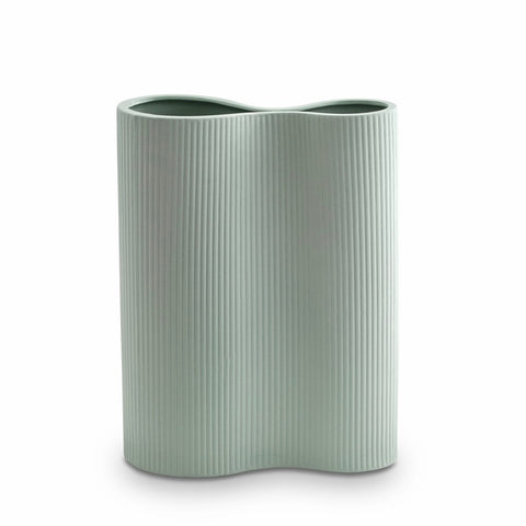 Ribbed Infinity Vase (M) Blue