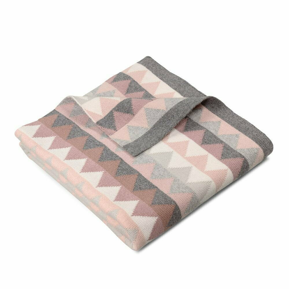 Archie Triangles Cotton Blanket Blossom
