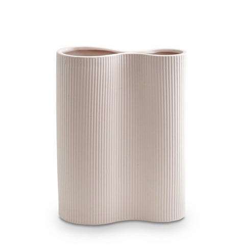 Ribbed Infinity Vase (M) Nude