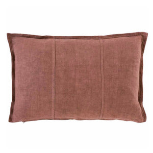 Luca Linen Cushion Desert Rose Rectangle