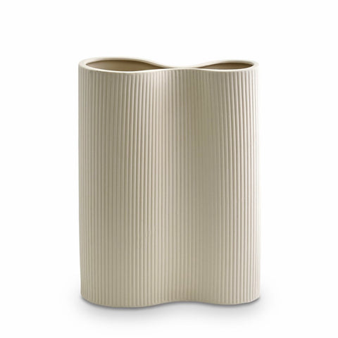 Ribbed Infinity Vase (M) Cream