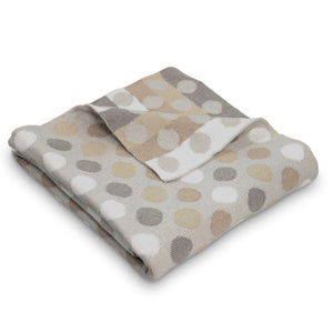 Bubble Cotton Spot Knitted Blanket Grey