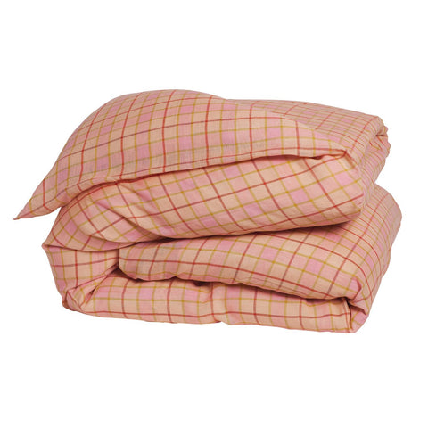 Isabel Check Linen Quilt Cover Bellini