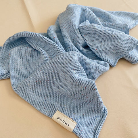 Maya Sprinkle Blanket Blue