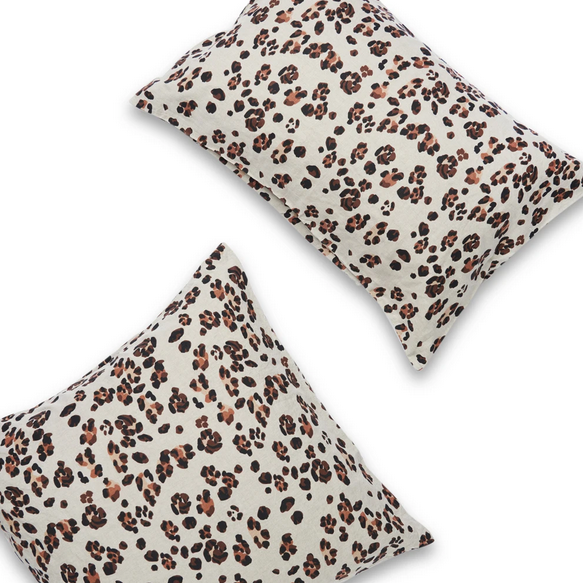Leopard Pillowcase Pair