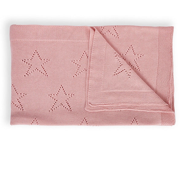 Fairy Floss Pink Star Baby Blanket