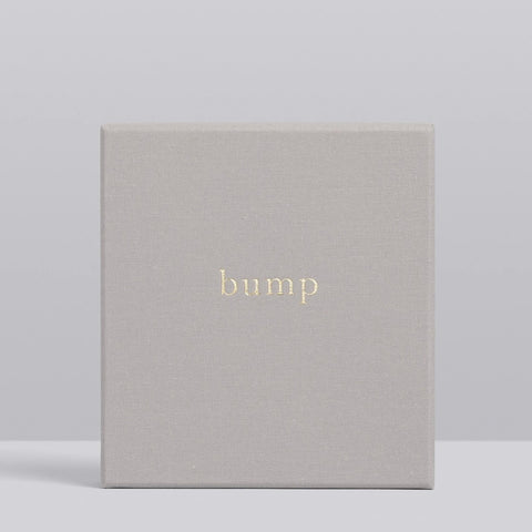 Bump My Pregnancy Journal Boxed Light Grey