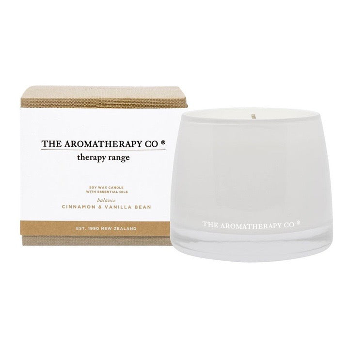 Therapy Candle Cinnamon & Vanilla Bean