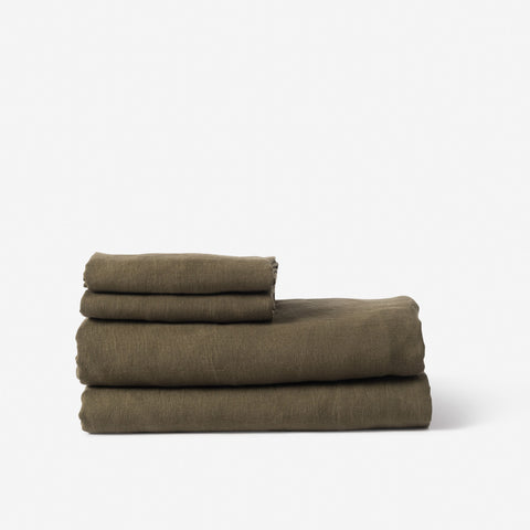 Sove Linen Fitted Sheet Ivy