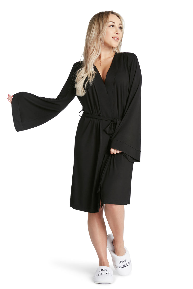 LIGHTWEIGHT ROBE - Dress Like Coco (Black)