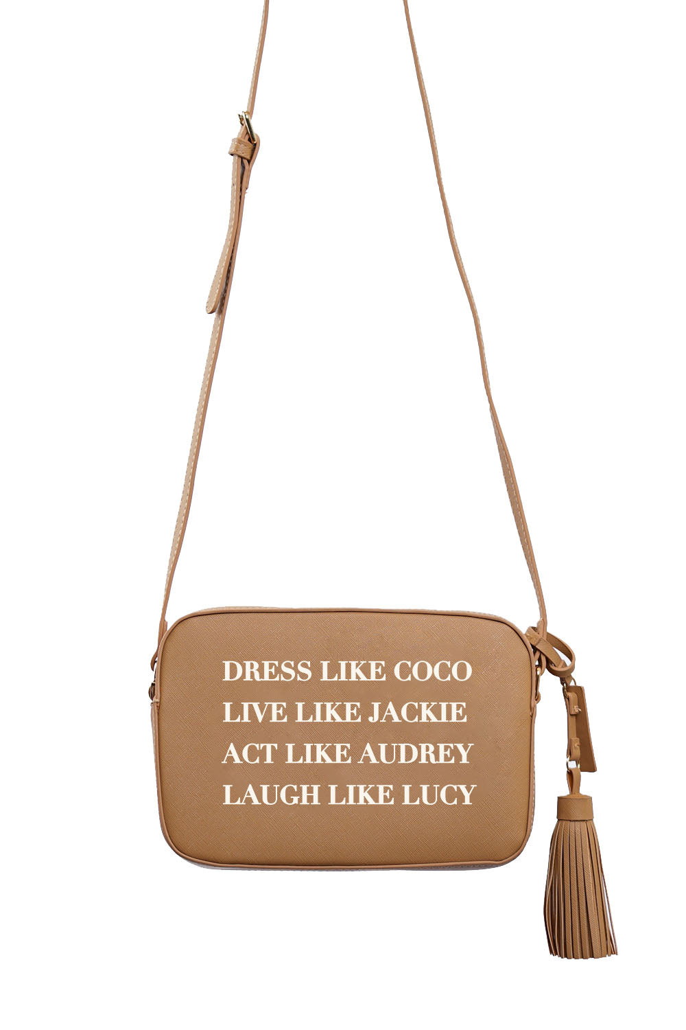 VEGAN CROSSBODY BAG - Dress Like Coco (Tan)