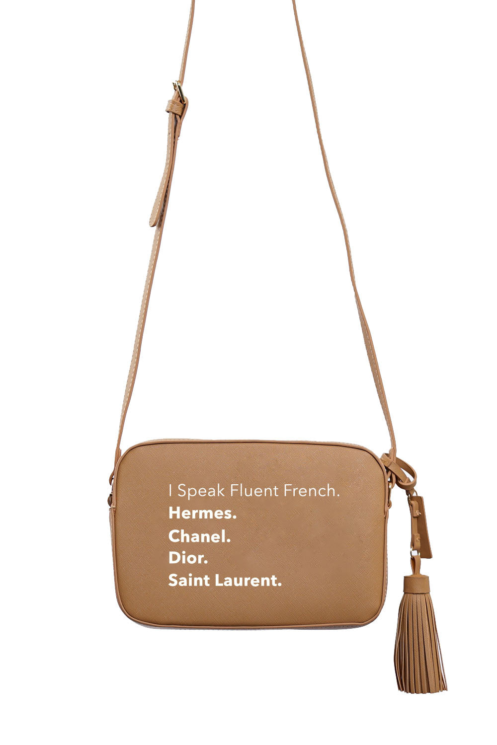 VEGAN CROSSBODY BAG - Fluent French (Tan)