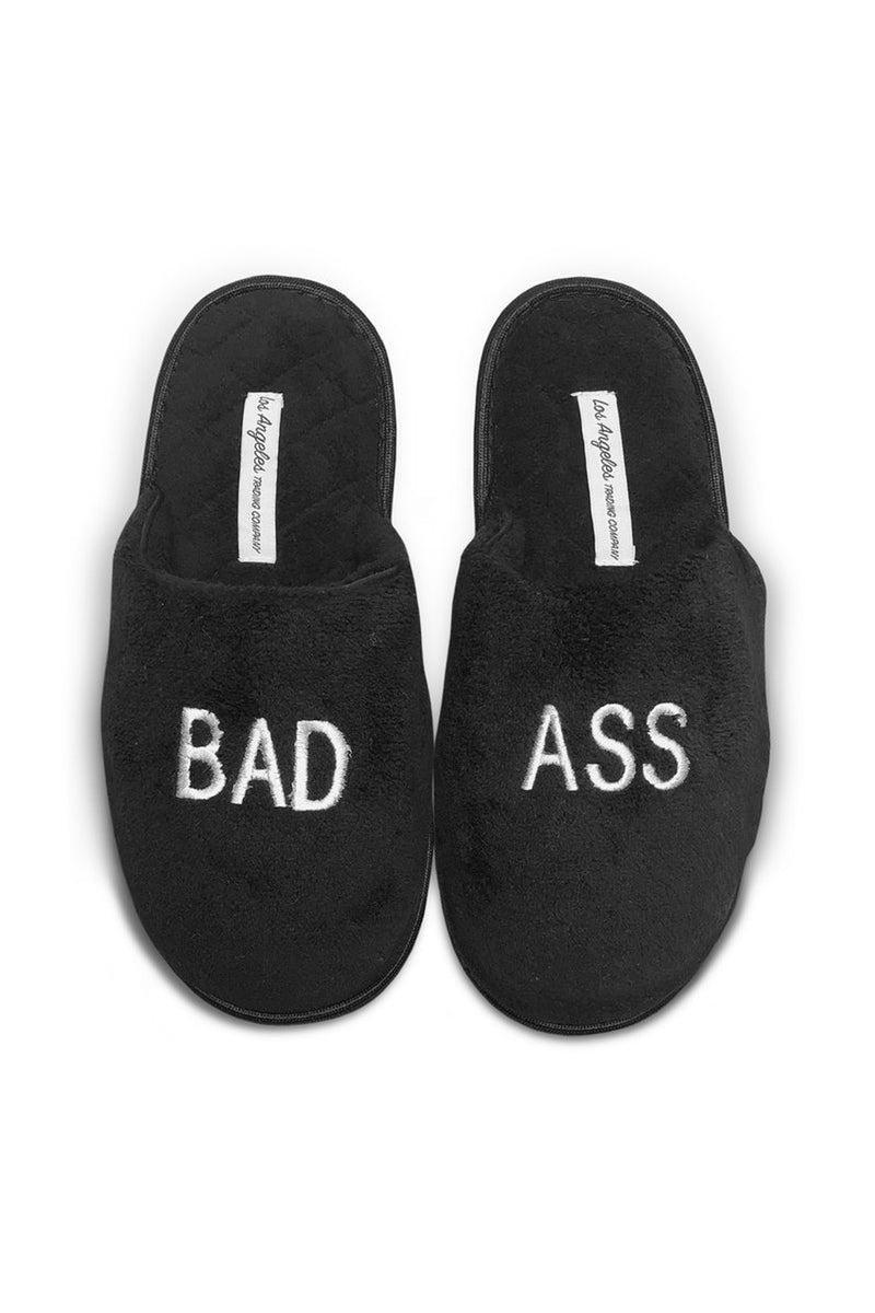 Unisex Black Slippers - Bad Ass