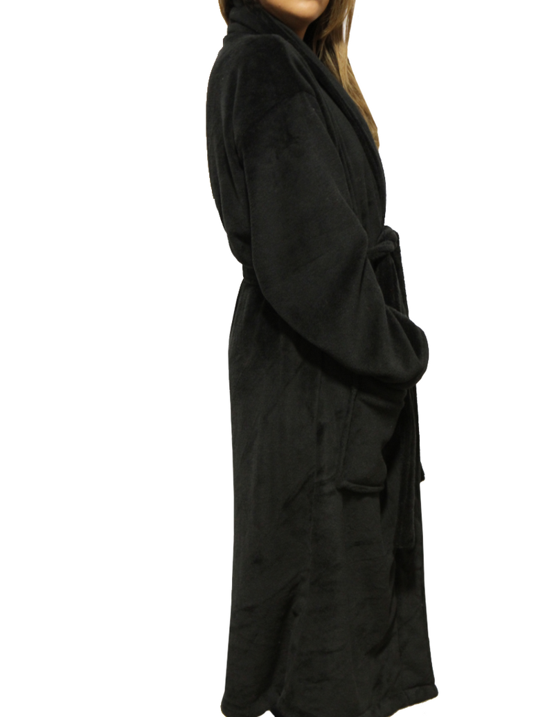 LUXE PLUSH ROBE BLACK- Don't Be Like The Rest Darling