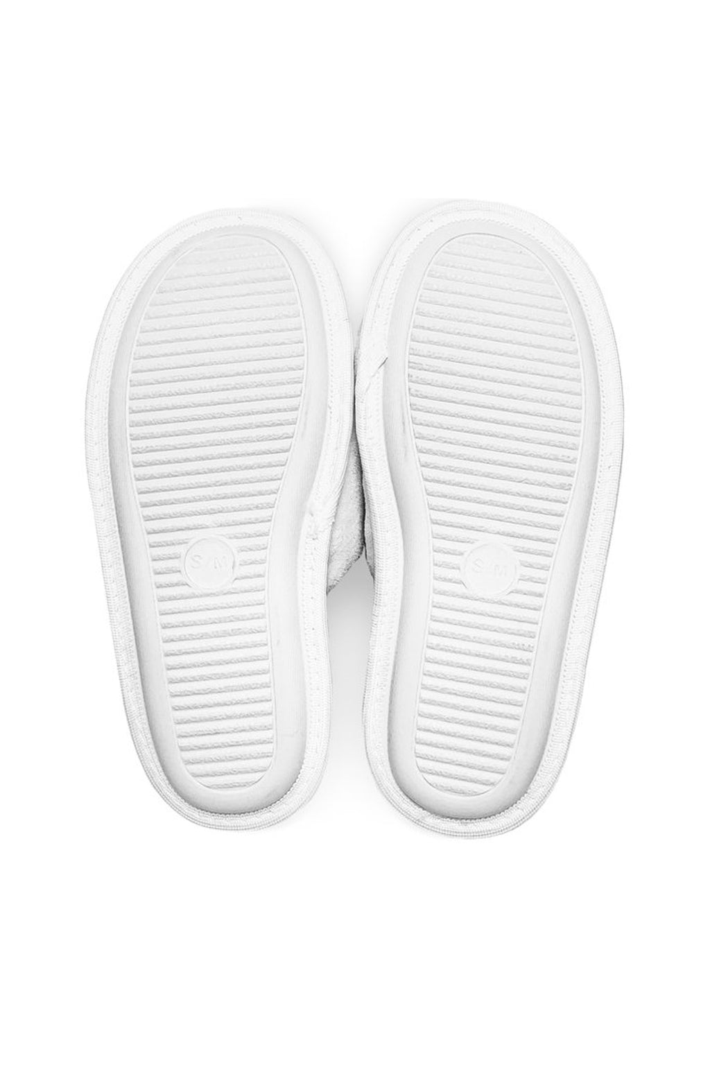 Women's White Slippers - Cuddle Dog