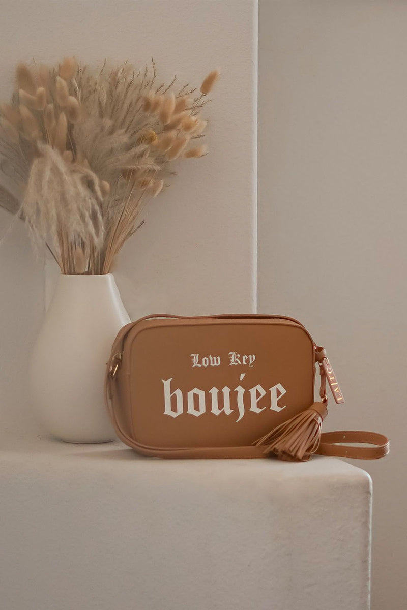 VEGAN CROSSBODY BAG - Low Key Boujee (Tan)