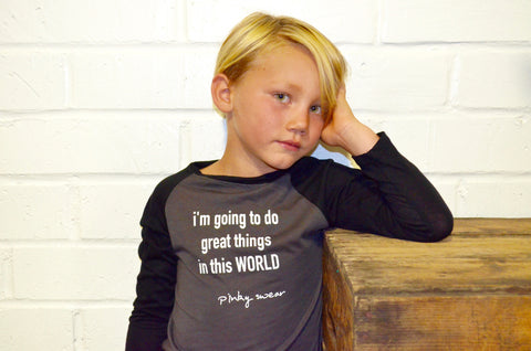 Kids- Great things Raglan