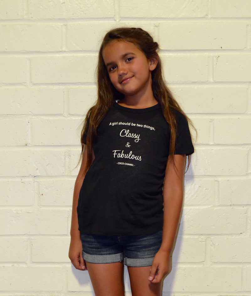 Kids- Classy and Fabulous S/S tee