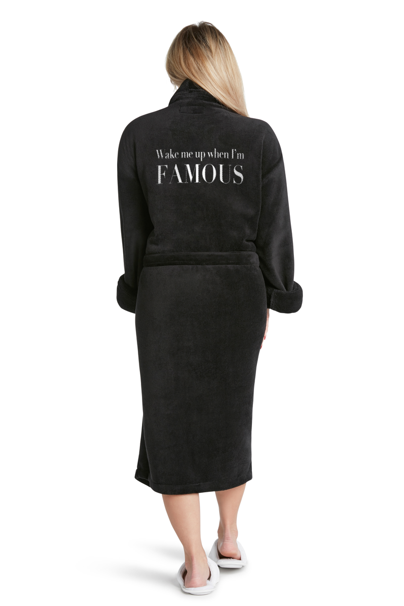 LUXE PLUSH ROBE - Wake Up Famous