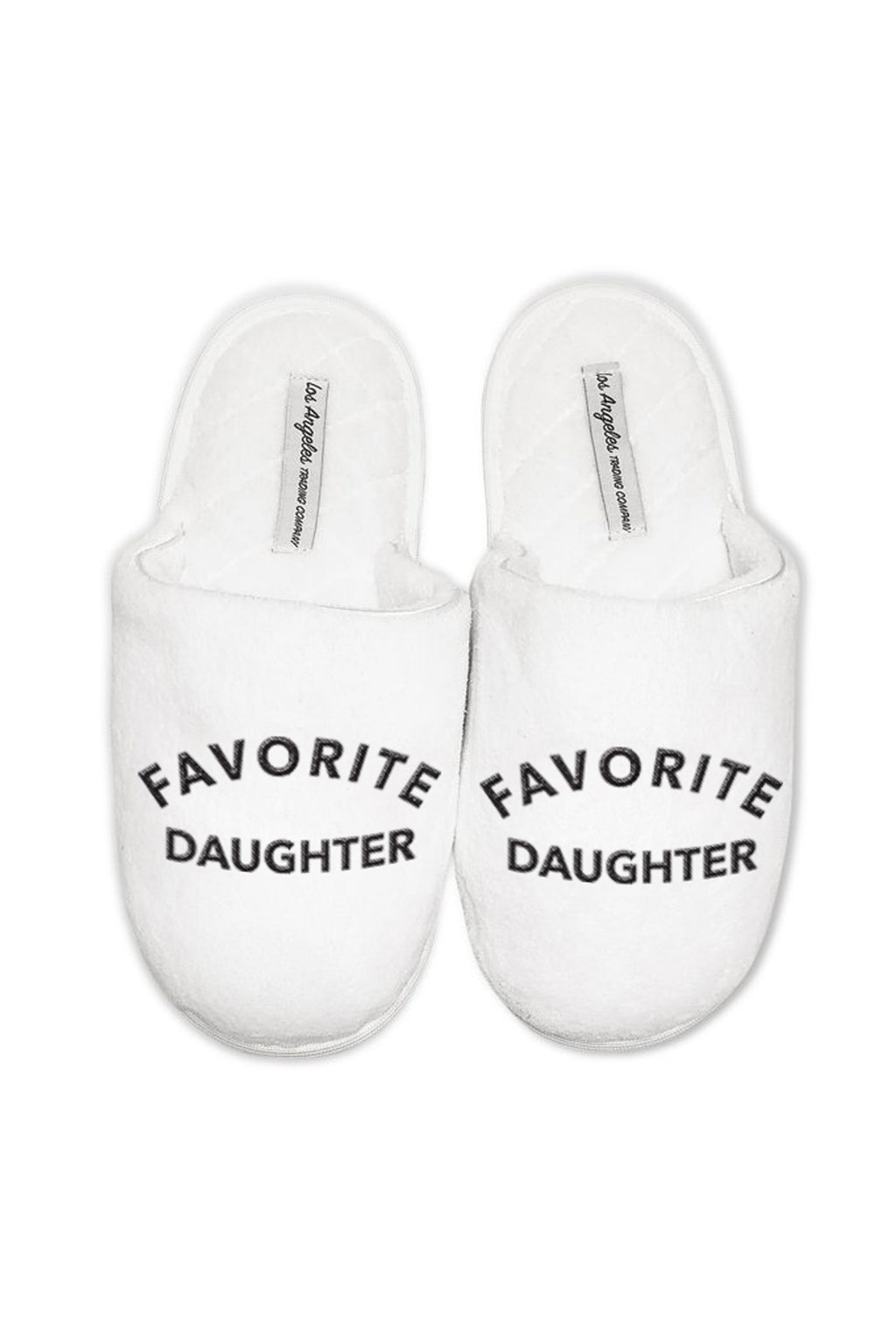 Women's White Slippers - Favorite Daughter