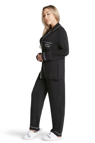 Lightweight Pajama Set-Fuck with me I dare you