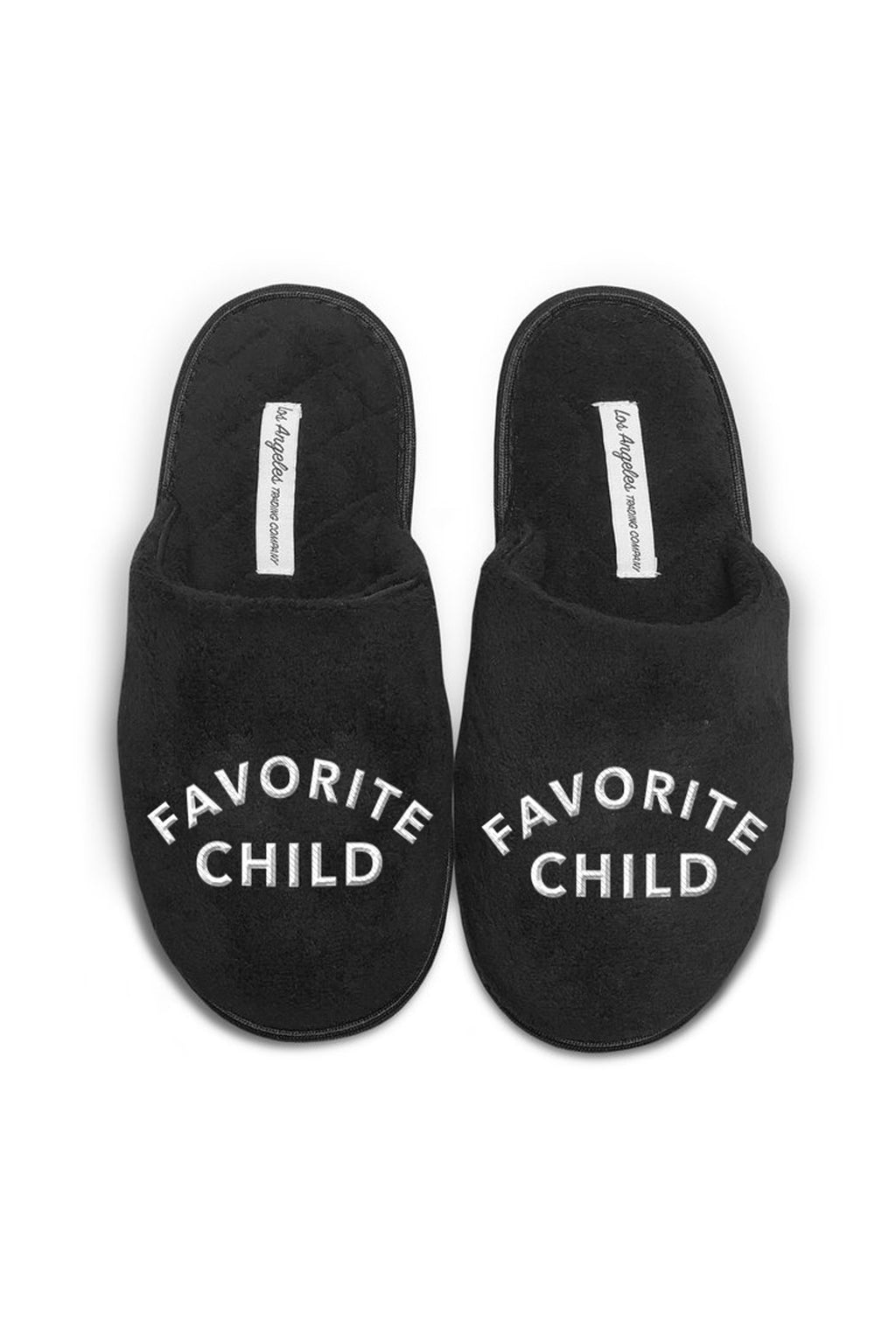 Unisex Black Slippers - Favorite Child
