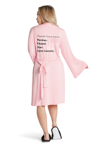 LUXE PLUSH ROBE - Fluent French (Pink)