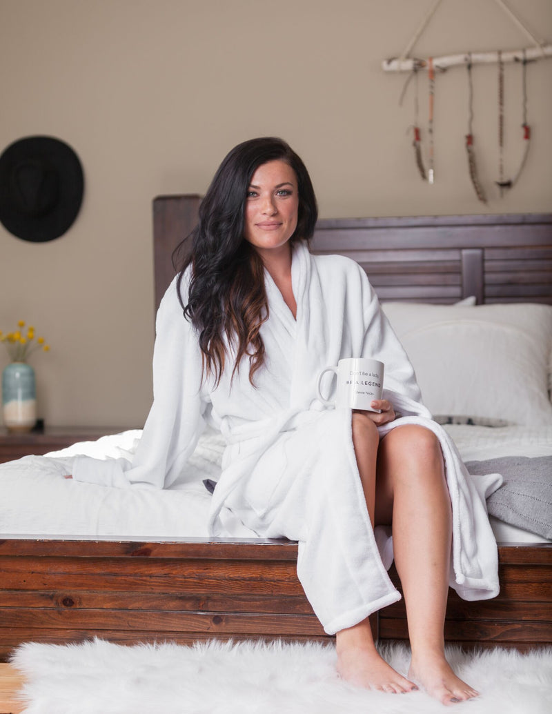 LUXE PLUSH ROBE - Cuddle Cat & Drink Wine