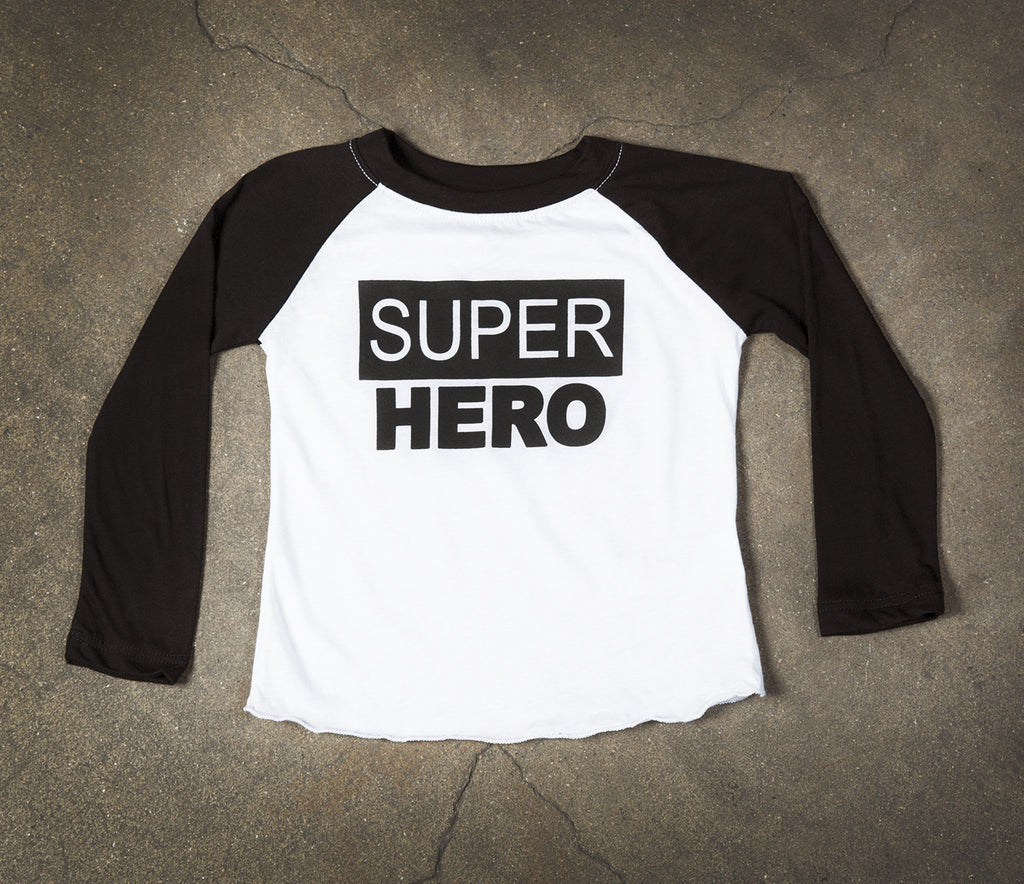 Kids- Super Hero Raglan
