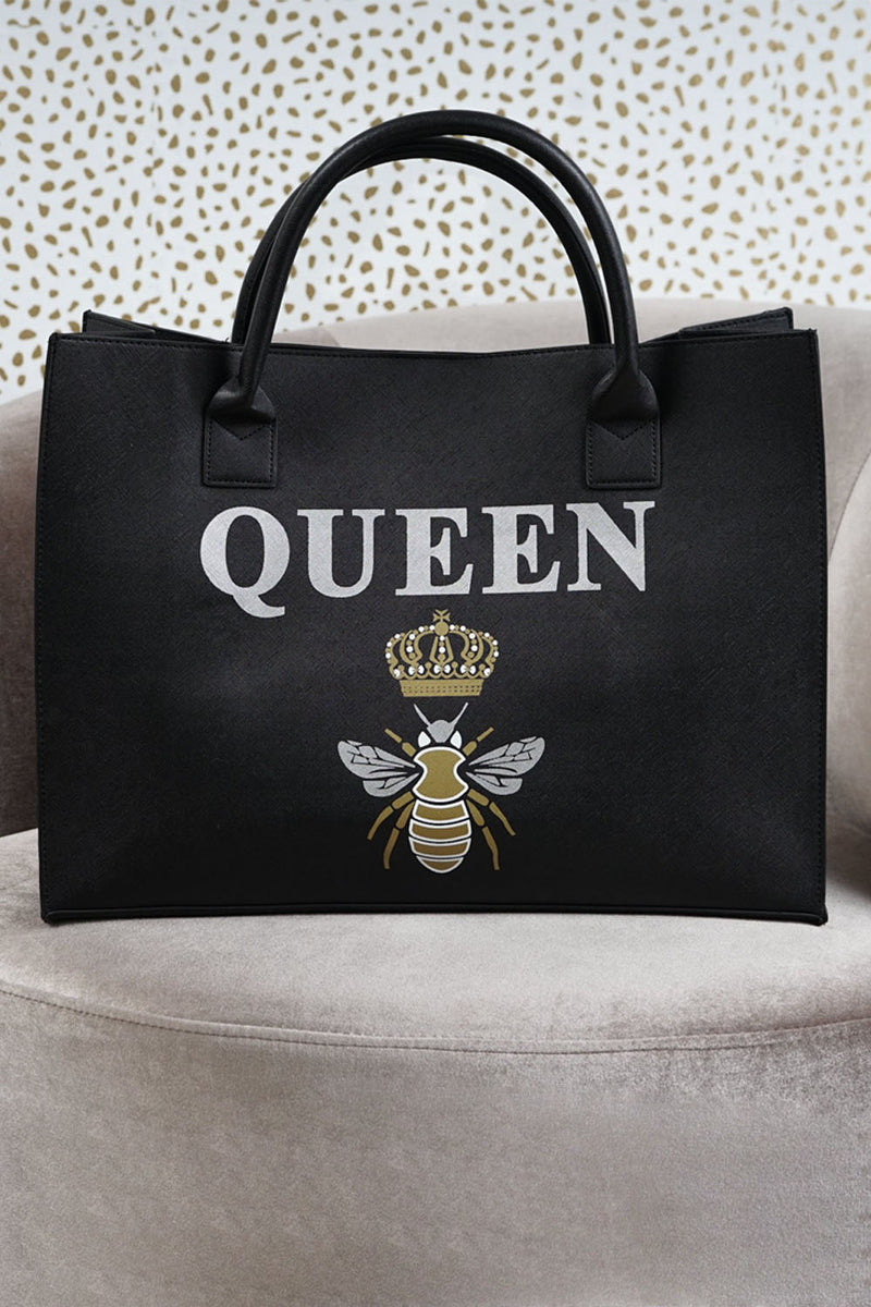 MODERN VEGAN TOTE - Queen Bee