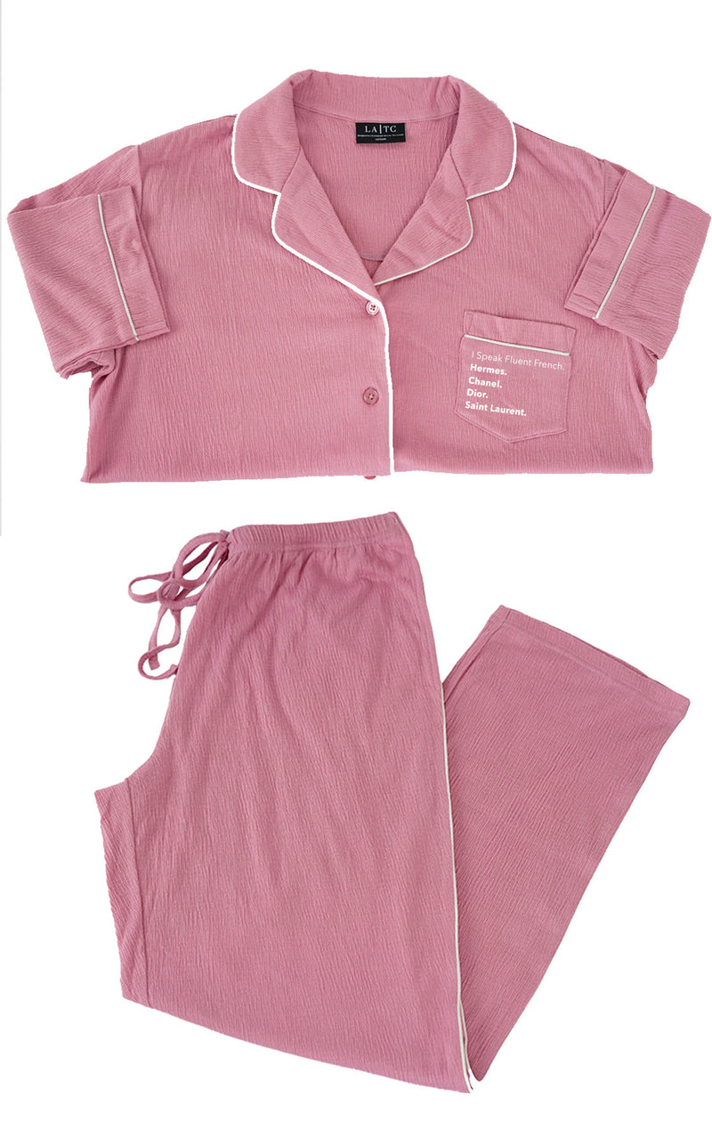 LUXE CRÈPE THERMAL PJ SET- Fluent French