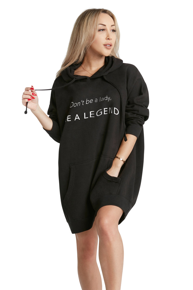 catch on wholesale 2018 sneakers Oversized Hoodie- Be A Legend