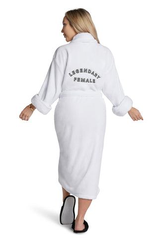 LUXE PLUSH ROBE  WHITE-  Dress Like Coco