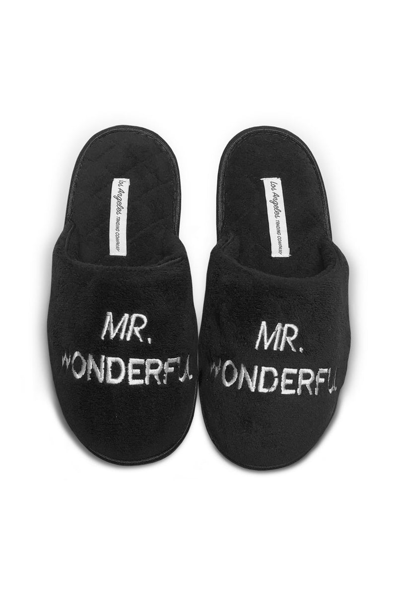 Unisex Black Slippers - Mr. Wonderful