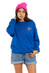 PRESLIE CREWNECK - Wine Lovers Only (Electric Blue)
