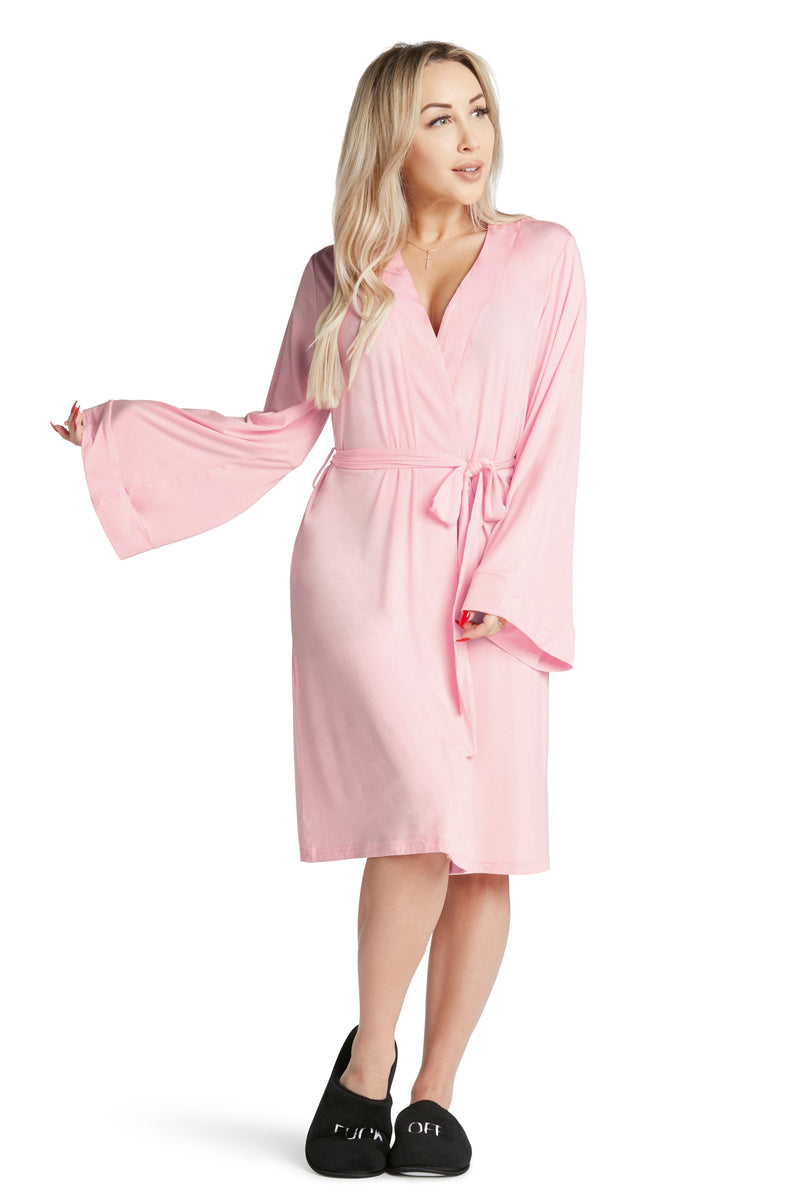 Lightweight Robe- Wine Lover