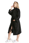 LUXE PLUSH ROBE BLACK-Fluent French