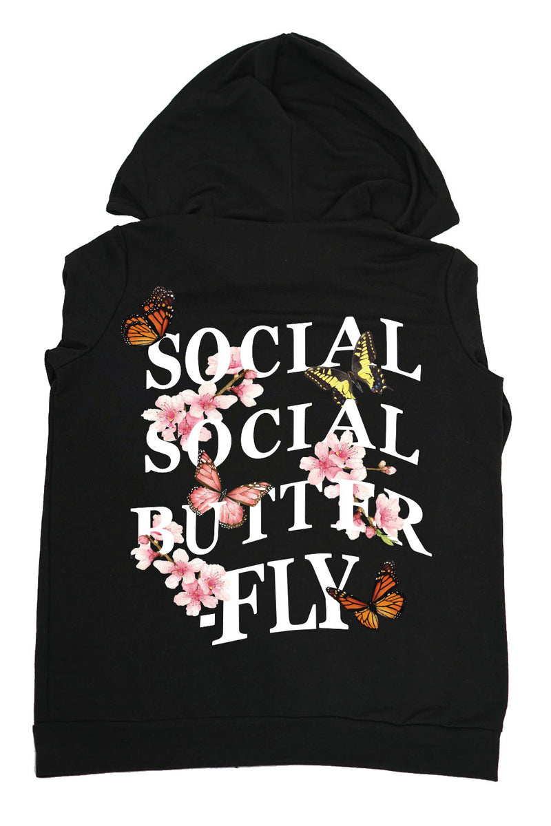 ZIP UP- Social Social Butterfly