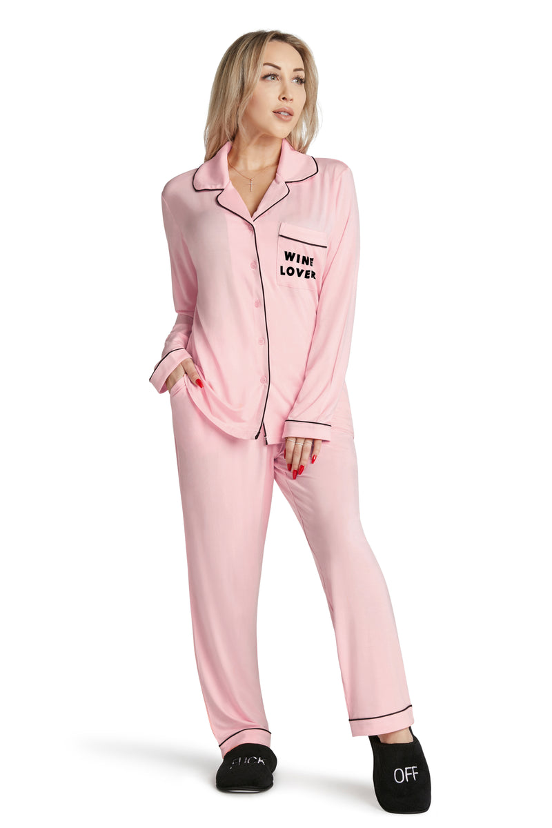 Lightweight Pajama Set-Wine Lover