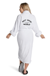 LUXE PLUSH ROBE -  Blank White Robe